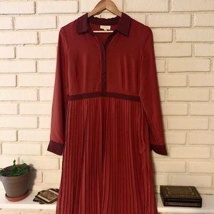 ModCloth rust/maroon dress size medium